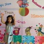 Alissha ready to enter Kids Zone