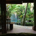 View from our bed at Paradise villa