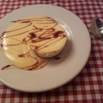 Tarta de queso con natillas