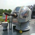 Boat gatling canon
