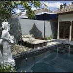 Vue de la piscine, jardin