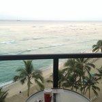 Coffee on the balcony, oceanfront room 825