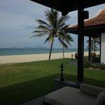 Beachfront villa in Row 1
