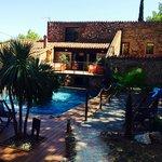 Piscine + terrasse chambre vue piscine