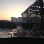 La terrasse au couché de soleil