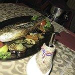 Fresh Sea Fish (1 kg) (grilled vegetables) Вкусно!