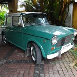 Charming old world Fiat. A permanent part of the hotel grounds.