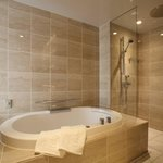 Luxe deluxe hollywood twin bed bathroom