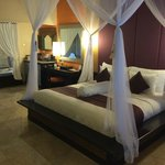 The bedroom of our seafront villa