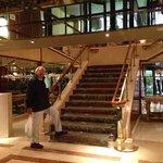 Escaliers d'accès à la réception