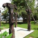 Traditional Kerala pillars