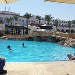 Middle pool - even though full lots of room & sunbeds