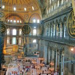 View from the galleries in Hagia Sofia