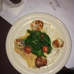 Scallops & Spinach