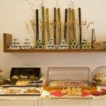 buffet ricco anche con prodotti per celiaci e vegani
