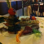 Fish with veggie stack