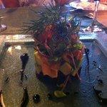 smoke salmon, avocado, beet salad