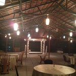 This is external seating for dining.. Setup at the far end is of Indian marriage Very pretty