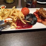 cajun chicken and chips - 5 out of 10