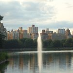 The fountain in the Jacqueline Kennedy Onassis reservoir.