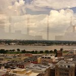 View of the Mississippi from our sitting area