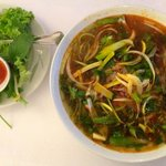 Bún bò Huế - Spicy beef soup with fine rice noodles (129 DKK)