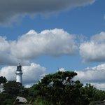 The lighthouse near the lobster shack