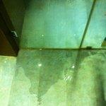 flooded bathroom floor