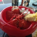 My twin lobster dinner - complete.