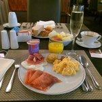 Petit-déjeuner au restaurant