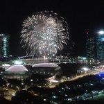 fireworks from balcony