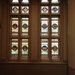 In Rijksmuseum: Stained glass windows