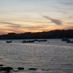 Sunset over the river teign which borders the holiday village