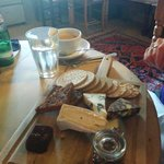Cheese Board and Coffee plus mineral water