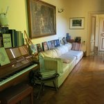 reading room and piano
