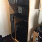 micro, fridge and cabinets - very handy
