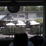 view from room to Doug Fir patio