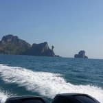 in the way to Phi Phi