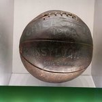 This basketball is over 100 years old.
