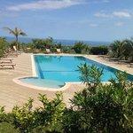 piscina pulitissima e panorama
