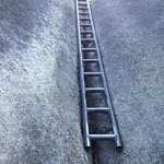 A steel ladder to get through a steep section