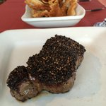 Pepper crusted steak