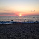 la sera in spiaggia