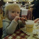 Annabella having lunch at Maggiano's