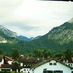 Blick auf die Schlösser und die Berge