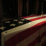 Replica of the presidential catafalque