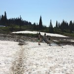 This was early August, still some snow, which was fun!