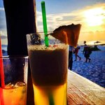Drinks on the beach at Sunset look like this.....