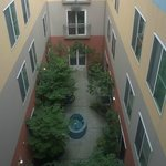 View of the courtyard from the fourth floor