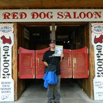 Cory  at the  Red Dog in  Juneau sporting our favorite  pet magazine - lol